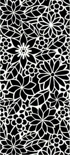 Laser Cut Floral Panel Pattern Free Vector DXF File