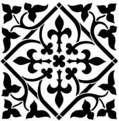 Laser Cut Floral Pattern Free Vector DXF File