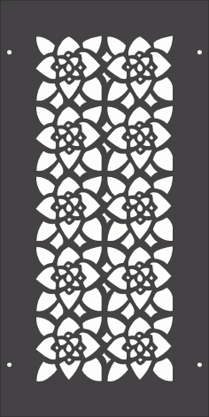 Laser Cut Floral Pattern Separator Free Vector DXF File