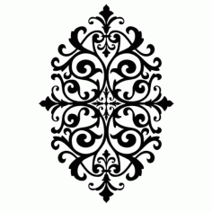 Laser Cut Floral Pattern Wallpaper Free Vector DXF File