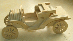 Laser Cut Ford Model T Car Free DXF Vectors File
