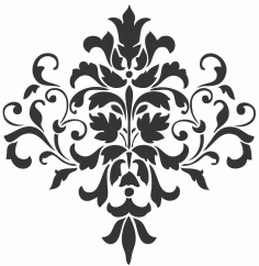 Laser Cut Grill Floral Pattern Free Vector DXF File
