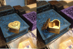 Laser Cut Heart Shaped Stash Box 3D Puzzle CDR File