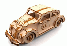 Laser Cut Herbie 3mm DXF File