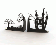 Laser Cut Horror Book End Free CDR File