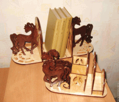 Laser Cut Horse Bookend Organizer Free CDR File