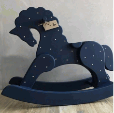 Laser Cut Horse Rocker Free CDR Vectors File