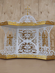 Laser Cut Iconostasis Shelf For Icons 3mm CDR File