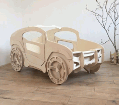 Laser Cut Jeep Bed for Kids Room Free Vector CDR File