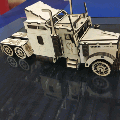 Laser Cut Kenworth W900s Truck Free CDR Vectors File