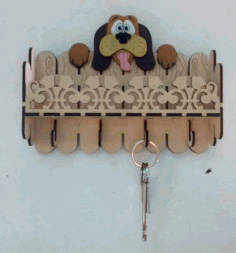 Laser Cut Key Hanger Dog 3mm Free Vector CDR File