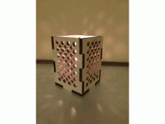 Laser Cut Lamp Box 70x70x80 DXF File