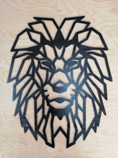 Laser Cut Lion Wall Decor Wall Art Decorative Design DXF Vectors File