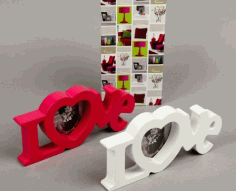 Laser Cut Love Heart Photo Frames Free Vector CDR File