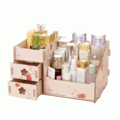 Laser Cut Makeup Organizer Box Drawer Cosmetics Storage CDR File