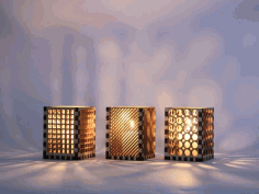 Laser Cut Modern Table Lamp Laser Cut Free DXF File