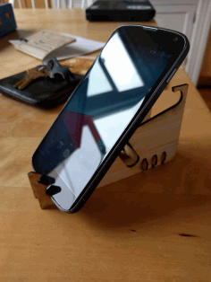 Laser Cut Multi-angle Phone Stand CDR File