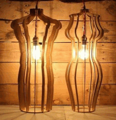 Laser Cut Night Light Lamps CDR File