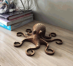 Laser Cut Octopus Layered Wooden CNC Laser Cut DXF File