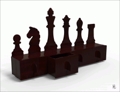 Laser Cut Organizer Chess 4mm CDR File