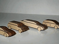 Laser Cut Out Wooden Scale Cars DXF File