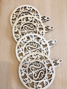 Laser Cut Pendant Plywood Toys For New Year Free Vector CDR File