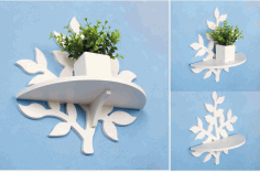 Laser Cut Planter Shelf Free CDR Vectors File