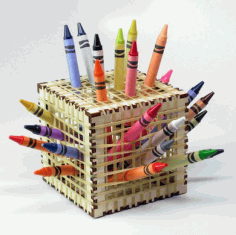 Laser Cut Plywood Organizer Pencil Box CDR File