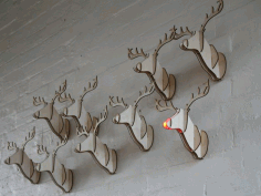 Laser Cut Reindeer Head Free DXF Vectors File