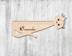 Laser Cut Ruler Cat Free CDR Vectors File