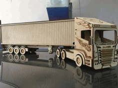 Laser Cut Scania R580 Truck Free CDR Vectors File