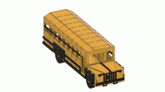 Laser Cut School Bus Template Free CDR Vectors File