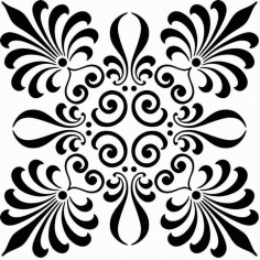 Laser Cut Scroll Saw Floral Pattern Free Vector DXF File