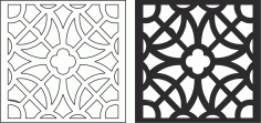 Laser Cut Seamless Floral pattern 226 Free Vector CDR File