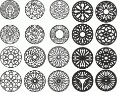 Laser Cut Set Free CDR Vectors File
