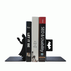 Laser Cut Superhero Batman Bookend Book Stopper Free CDR File