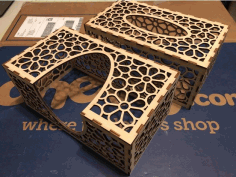 Laser Cut Tissue Box 3mm Birch Plywood Free DXF Vectors File