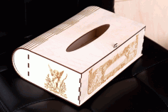 Laser Cut Tissue Box Engraved Tissue Holder Plywood Free CDR Vectors File