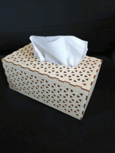 Laser Cut Tissue Box Template Free DXF Vectors File