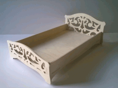 Laser Cut Toy Crib For Dolls free DXF Vectors File