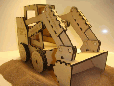 Laser Cut Toy Gift Bobcat Skid Steer Loader Free CDR Vectors File