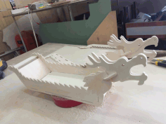 Laser Cut Tray For Sushi Chinese Dragon Boat 4mm free CDR Vectors File