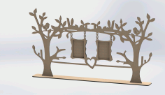 Laser Cut Tree Frame Design DXF Vectors File