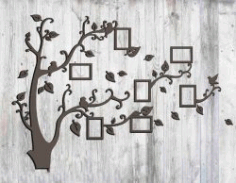 Laser Cut Tree Photo Frame Free DXF Vectors File