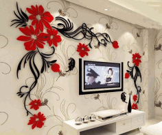 Laser Cut Tv Wall Acrylic 3d Relief Wall Sticker Download Free Vector CDR File