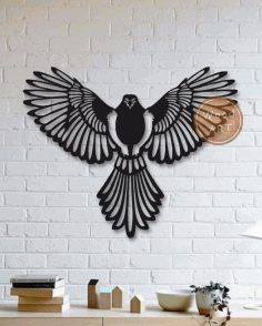 Laser Cut Wall Panel Bird DXF File