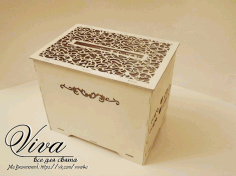 Laser Cut Wedding Card Box 3D Puzzle CDR File