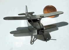 Laser Cut Wood Airplane Toy Kit Free DXF Vectors File
