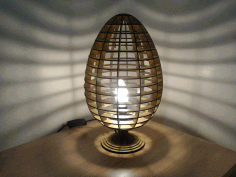 Laser Cut Wood Easter Egg Lamp CDR Vectors File