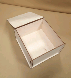 Laser Cut Wood Storage Box with Lid CDR File
